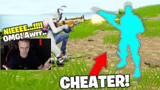 WE PLAYED WITH CHEATEREM! WAS INVISIBLE AND DESTROYED US GAME! | Fortnite Battle Royale