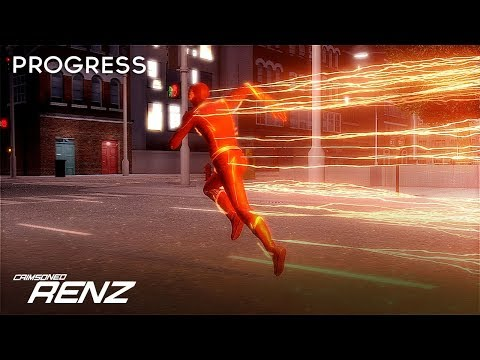 3D CW The Flash - Animation Showcase & Lightning Work In Pro