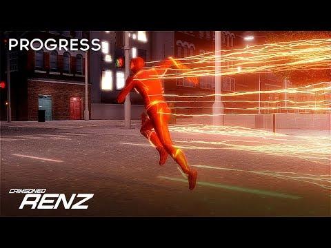 3D CW The Flash - Animation Showcase & Lightning Work In Progress | Cinema 4D