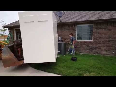 Tornado Master Above ground Shelter delivery