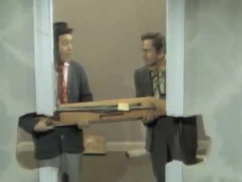 Classic Sesame Street - Buddy and Jim move an ironing board (the hard way)