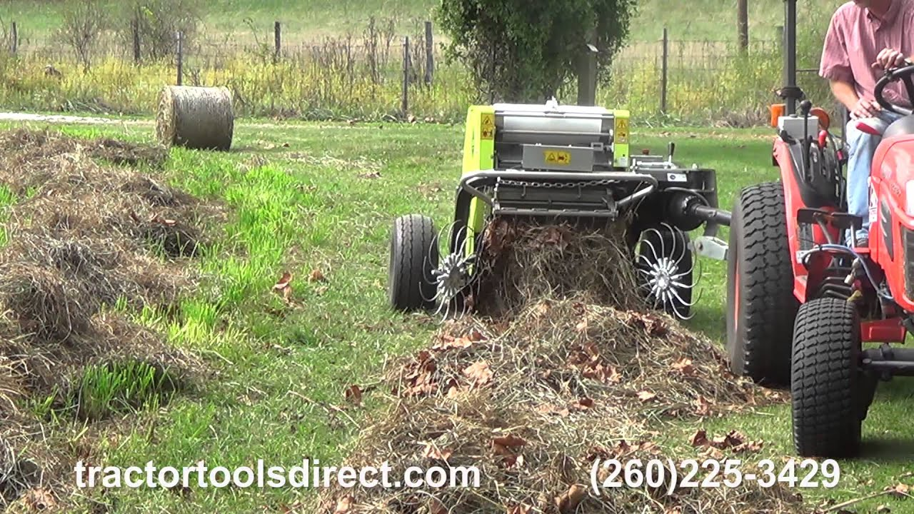 Tractor Tools Direct Caeb Mini Round Baler Demonstration