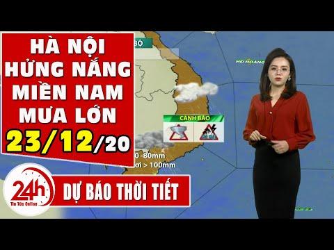 Dự báo thời tiết ngày 23/12 Hà Nội có Nắng Dự báo thời tiết ngày mai và 3 ngày tới mới nhất