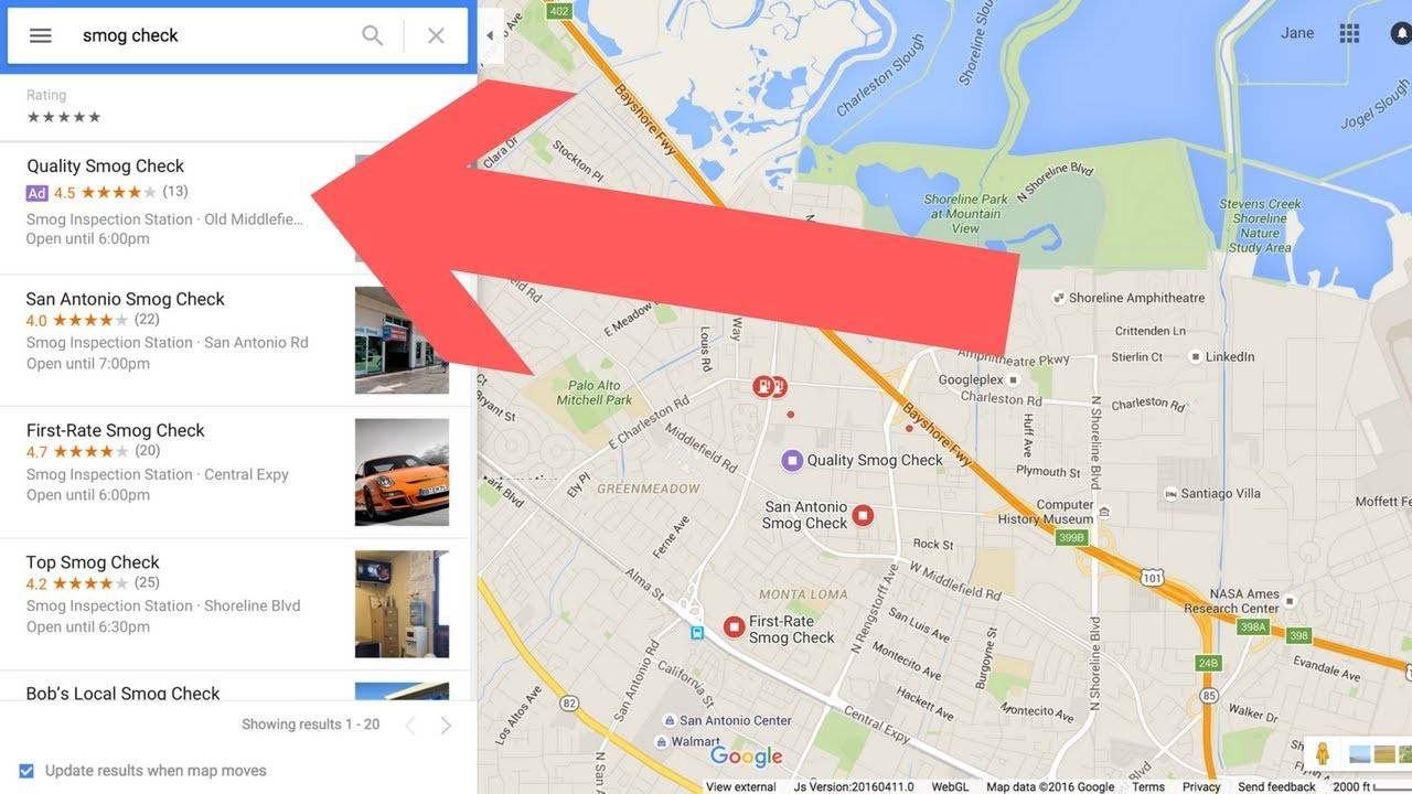 Map Up.How To Get Your Adwords Ads To Show Up In The Map Listings