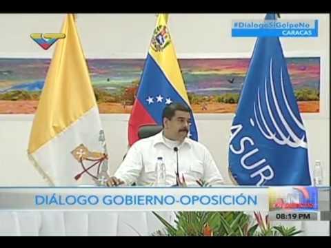 Inicia diálogo Gobierno-MUD en Museo Alejandro Otero, palabras de Maduro y Claudio María Celli
