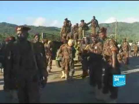 Sudanese troops liberating comoros island الجيش السودانى فى  جزر القمر
