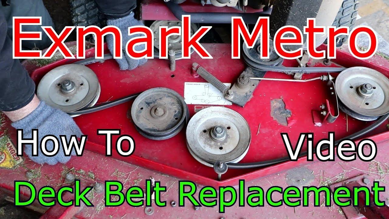 exmark metro deck belt replacement 48 inch how too exmark metro 48 belt diagram [ 1280 x 720 Pixel ]