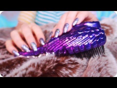 ASMR Soothing Faux Fur Brushing, Scratching, Combing For Sleep & Study 💜