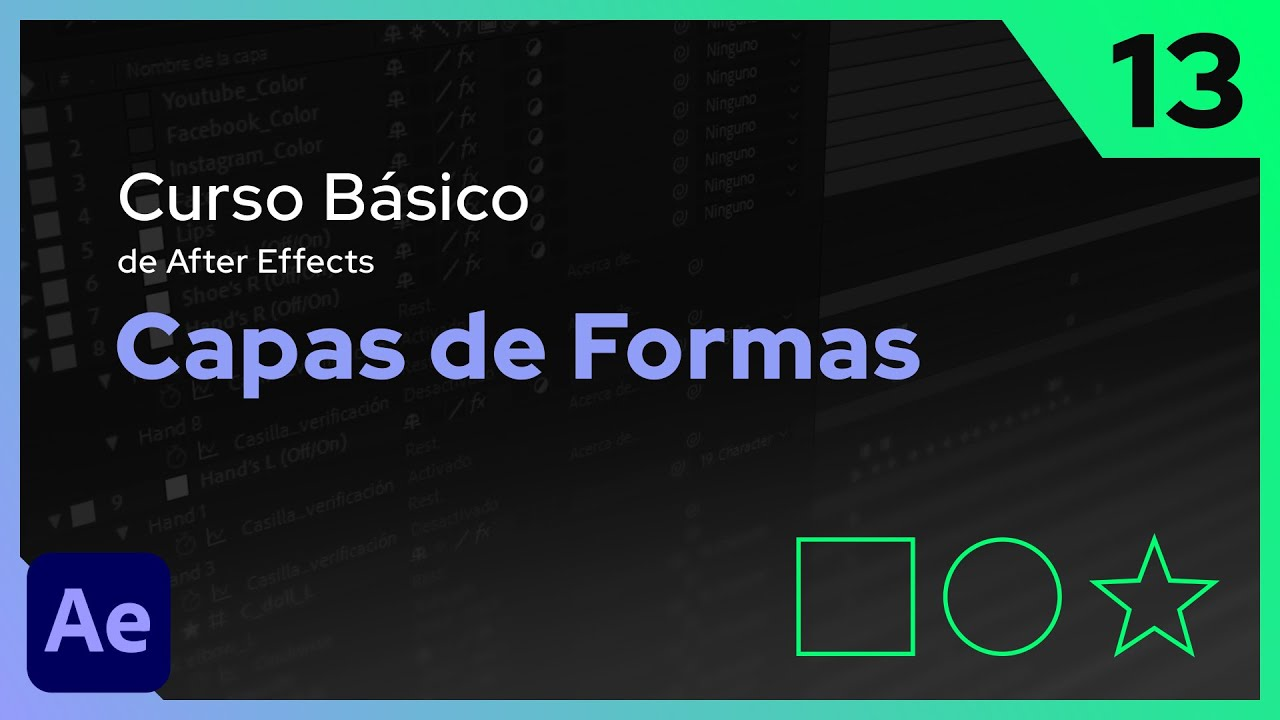 Capas de Formas | After Effects - Tutorial