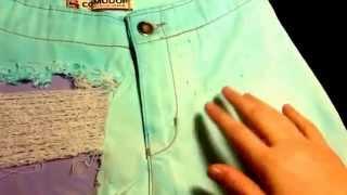 Видео урок:как сделать дырочку на джинсовых шортах(через YouTube Объектив., 2014-11-21T17:49:04.000Z)