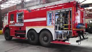 Обзор пожарных автоцистерн УСПТК на шасси КАМАЗ-43118