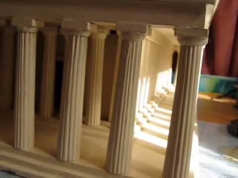 Greek Temple scale- model