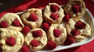 Raspberry White Chocolate Cookies - Rise Wine & Dine - Episode 96