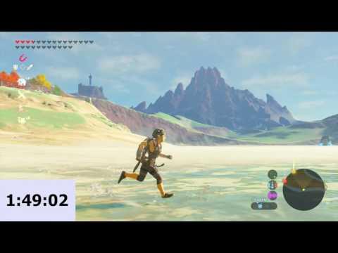 Walking The Entire Perimeter Of Zelda: BotW's Map! (3 hours, 18.5 minutes)
