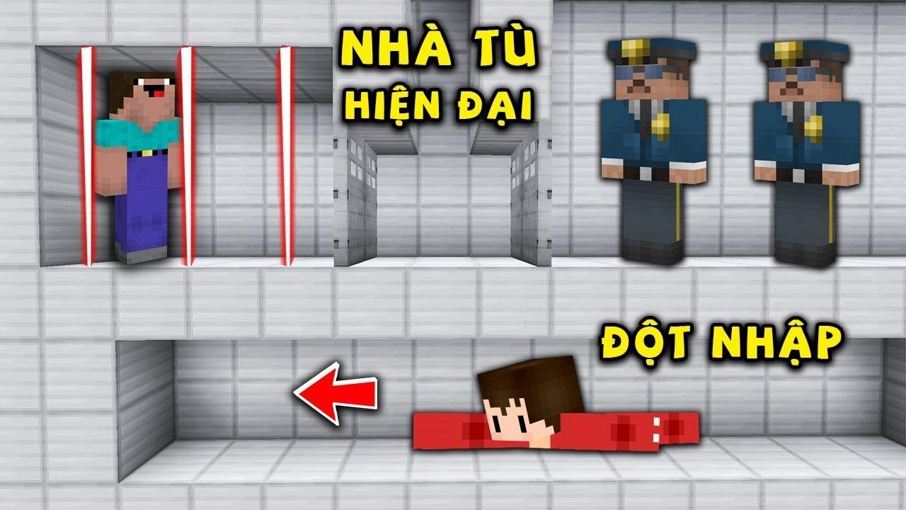 Rex Và Noob Thử Thách Vượt Ngục Khỏi Nhà Tù Hiện Đại Trong Minecraft !!!