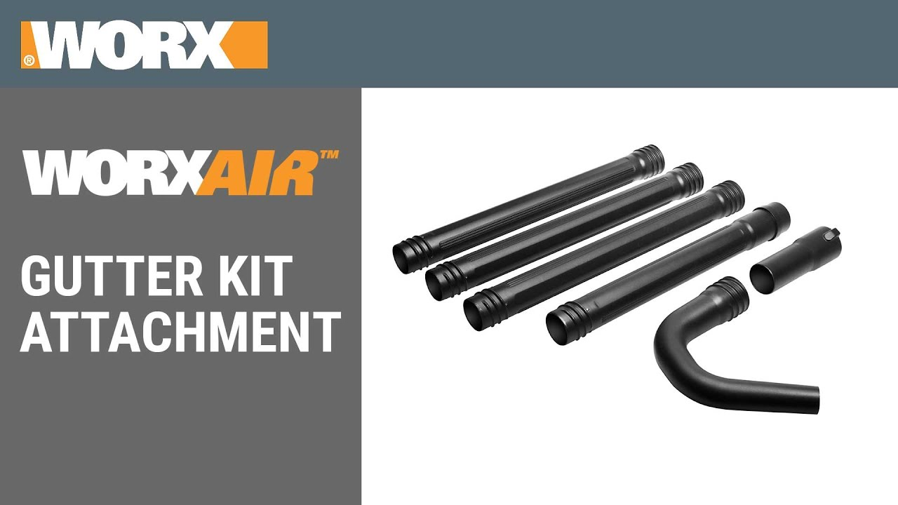 WORX Air Gutter Kit Attachment YouTube