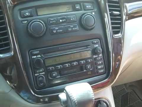 toyota highlander car stereo removal and repair 2001 2007