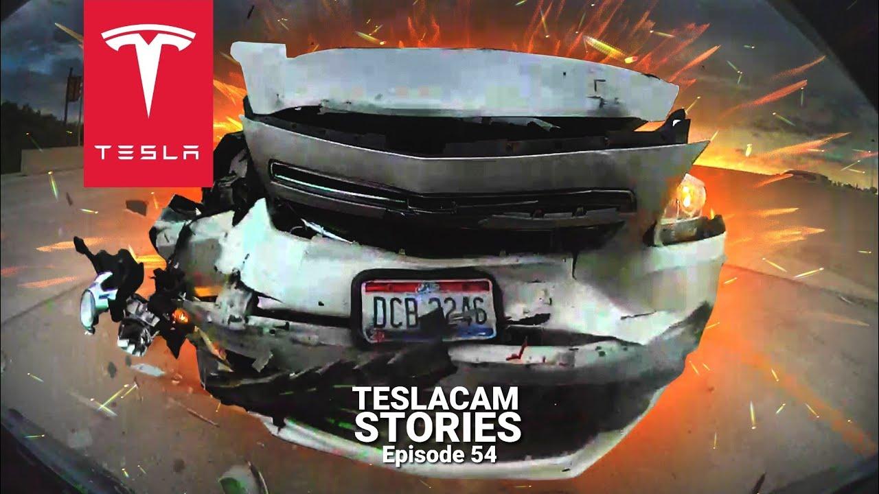 TESLA MODEL 3 PERFORMANCE TOTALLED | TESLACAM STORIES #54 ...