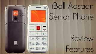 iBall Aasaan Senior Mobile Phone Review Features & How To Use / Setup