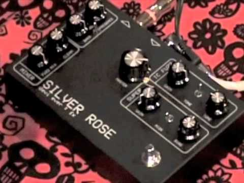 Devi Ever SILVER ROSE FUZZ guitar effects pedal demo with FUZZBOXGIRL!