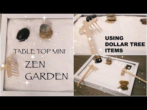 DIY Dollar Tree Zen Garden || Affordable Table Top Decor || Spring 2017