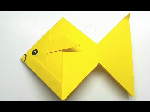 Origami Tutorial - How To Fold An Easy Origami Gold Fish