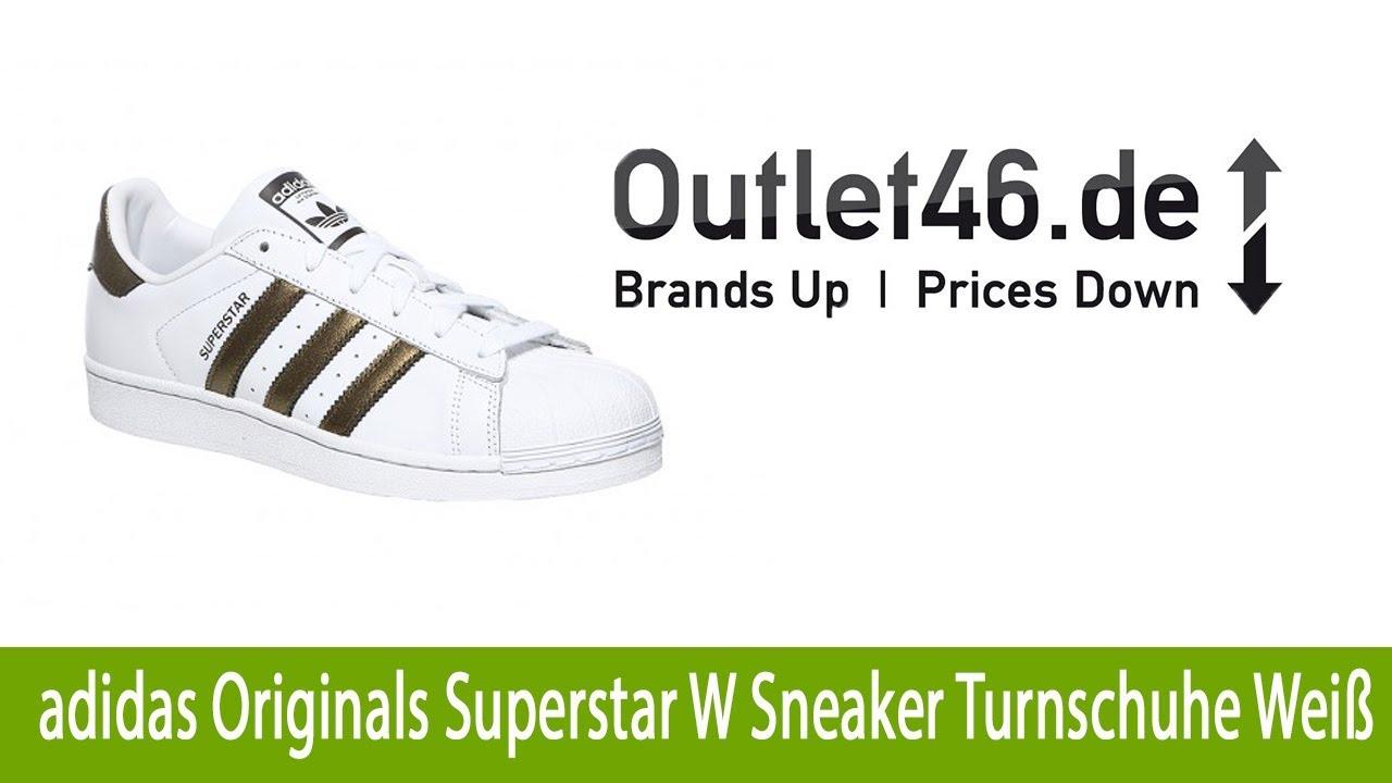 984b00035130e1 Lässige adidas Originals Superstar W Sneaker Turnschuhe Weiß günstig kaufen