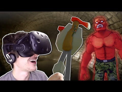 CRAZY AXE SWORD!  Undead Development Gameplay  HTC Vive Zombie Survival Game