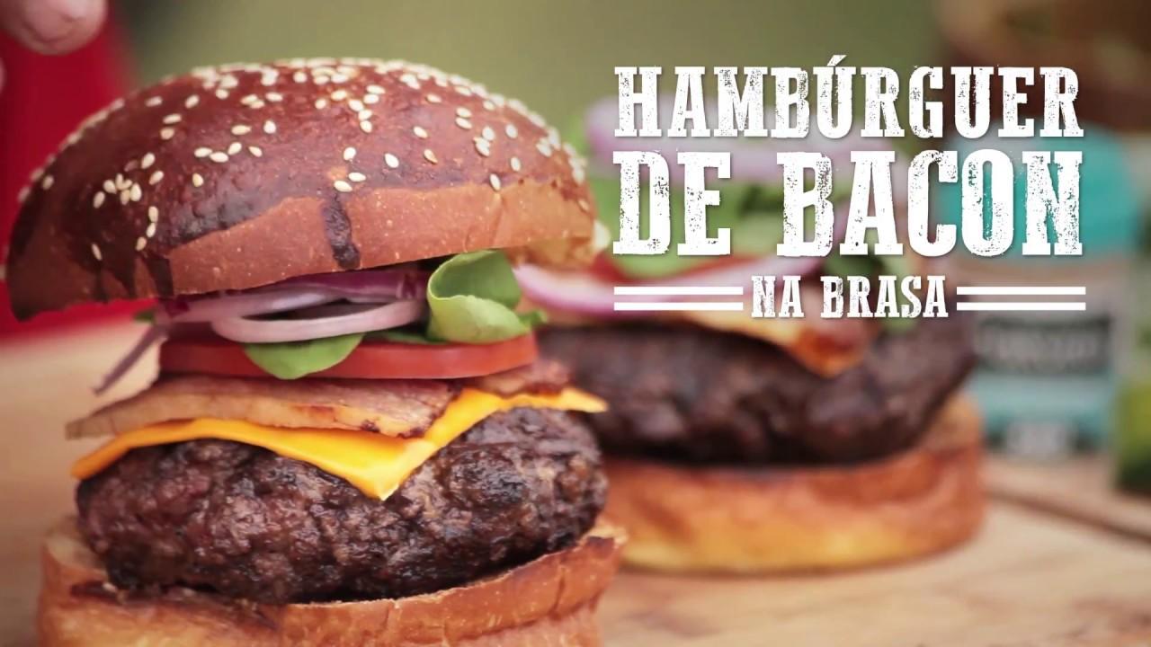 Hambúrguer de Bacon na Brasa I Churrasqueadas