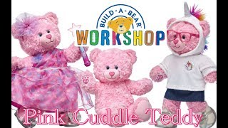 Pink cuddles teddy is a soft and sweet furry friend. this bear has swirly fur an adorable heart-shaped nosed. with light blue eyes heart...