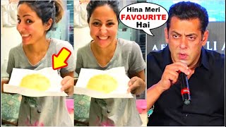 Baixar Hina Khan Makes PURI For FAVOURITE Salman Khan Cutely