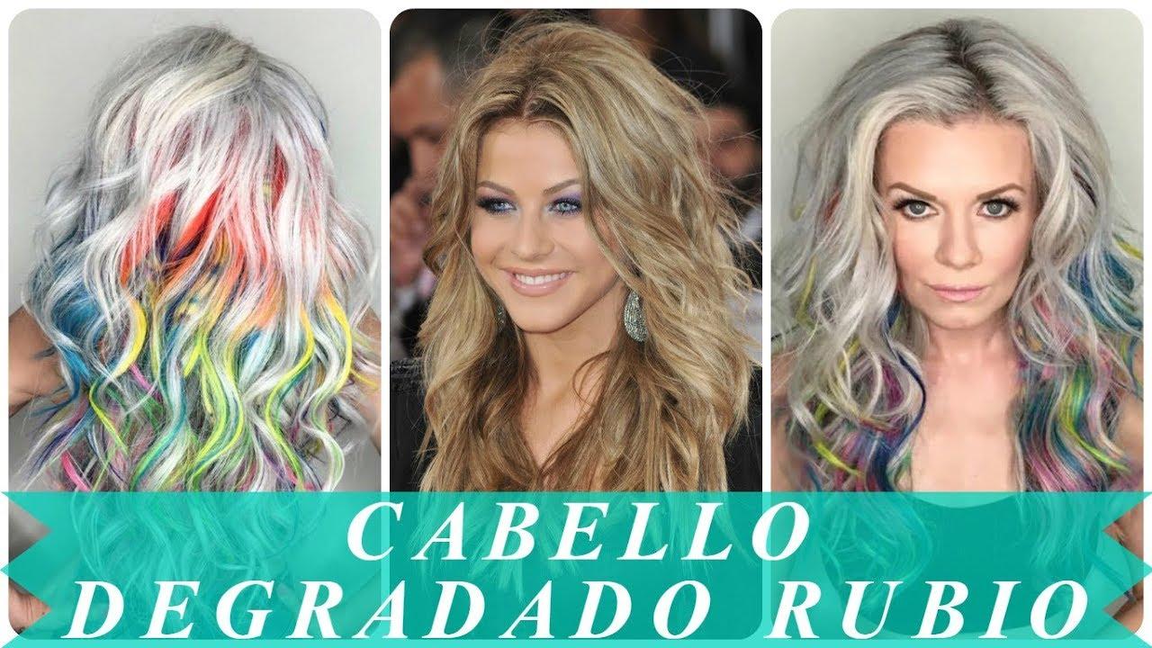 Peinados Modernos Cabello Degradado Rubio 2018 Youtube