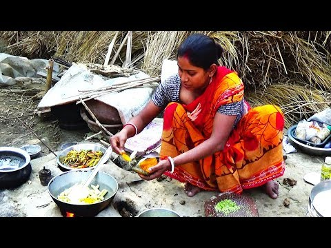 Rural Women Cooking ll Delicious Kachur Dalna ll Indian Village Food
