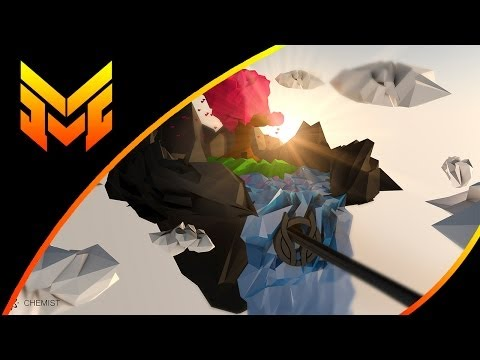 Speed Art | Flying Island - Low Poly | Chemist