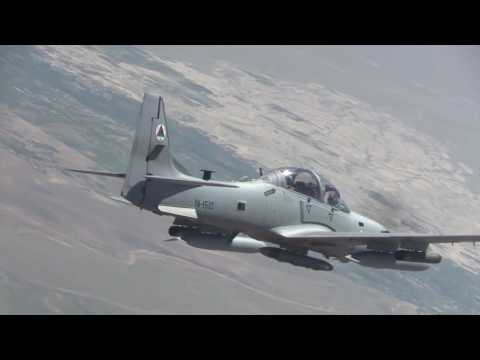 Afghan Air Force A-29s Flying over Afghanistan