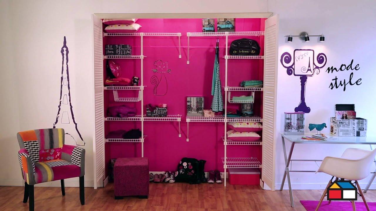 Organiza el closet de tu hija youtube for Closet rusticos