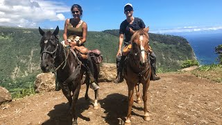 Come with us on a horseback riding adventure on the rim of the Waip...