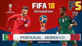PORTUGAL vs. MOROCCO | 2018 FIFA World Cup Simulation Match - 1080p ✔️