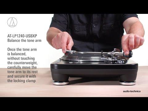 AT-LP1240-USBXP Setup   Direct-Drive Professional DJ Turntable