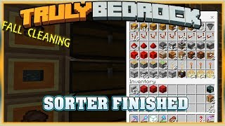 Truly Bedrock S1E46 Sorter Finished and Fall Cleaning | Minecraft Bedrock Edition SMP, MCPE, MCBE