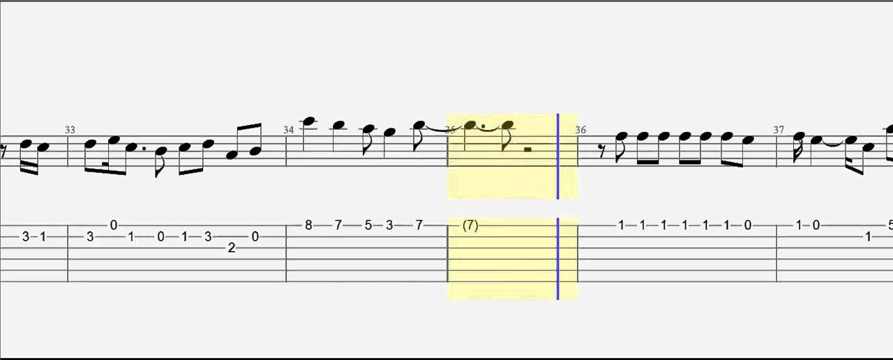 Guitar Tab When I Was Your Man Slow Version With Notes Youtube