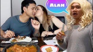 Istriku Bule  Hamil Tua ngidam Ayam Lalapan.