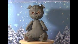 Cat, the model head on the foam ball part 1. Котик, модель, голова на пенопластовом шарике часть 1