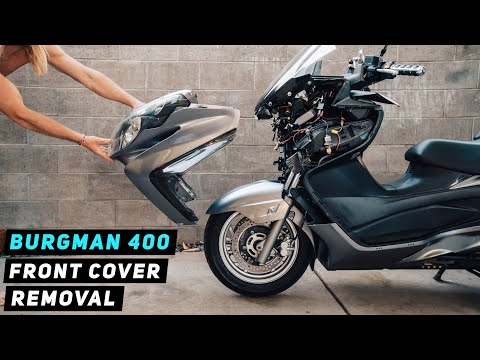 07+-suzuki-burgman-400-front-cover-removal-|-mitch's-scooter-stuff