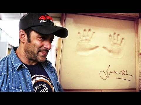 Salman Khan's Hand Cast At Bhubaneshwar - Watch Out