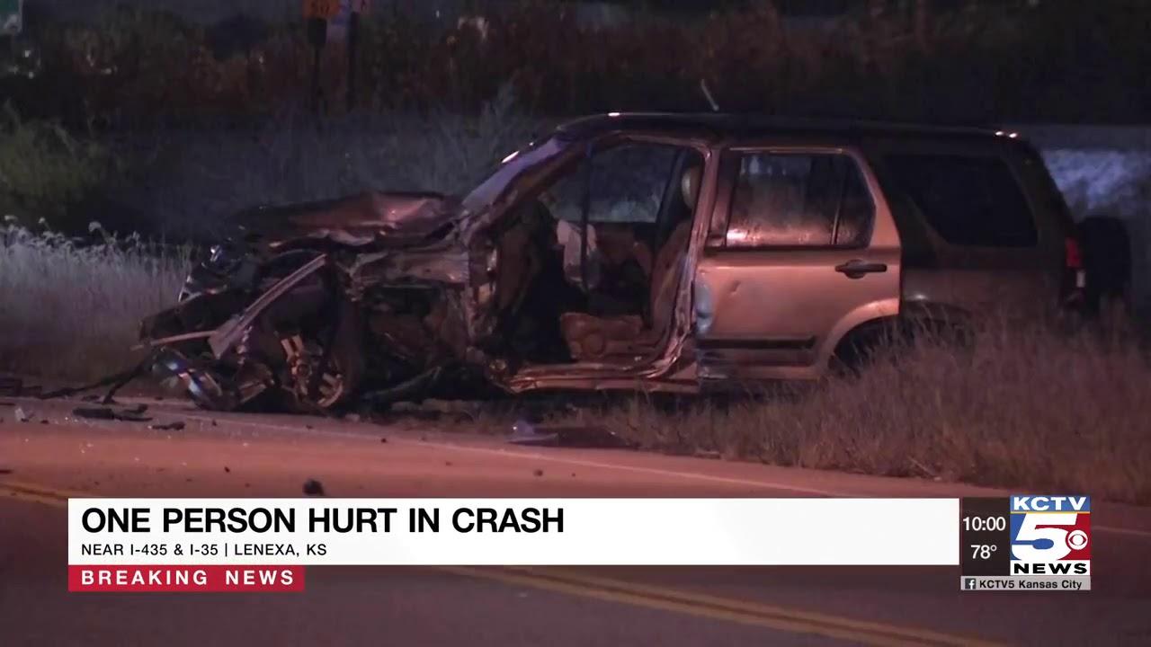 Three rushed to hospital in I-435, I-35 crash