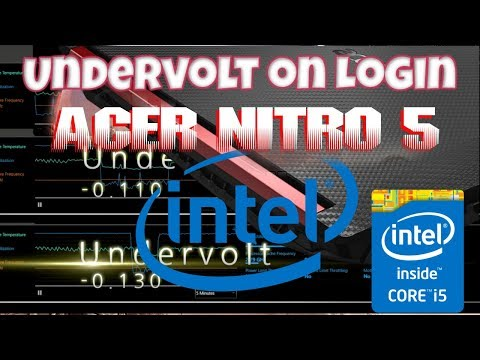 Intel XTU Acer Nitro 5 Undervolt Automatically