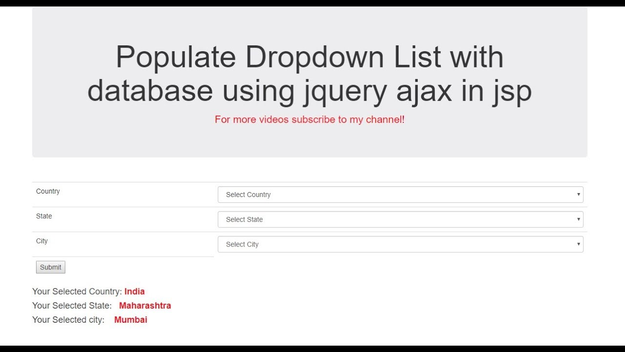 How to Populate Dropdown List with database using jquery