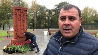 Установка хачкара в Серпухове
