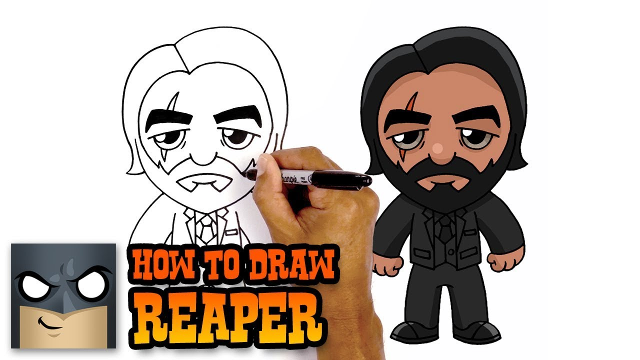 How To Draw John Wick Step By Step Tutorial Youtube